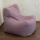 Pastelsete toonidega mööbliriidest pehme kott-tool