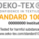 Oeko-Tex standard 100 sertifikaat