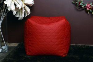 Tepitud kunstnahast kott-tool tumba punane stiilne ja kuninglik